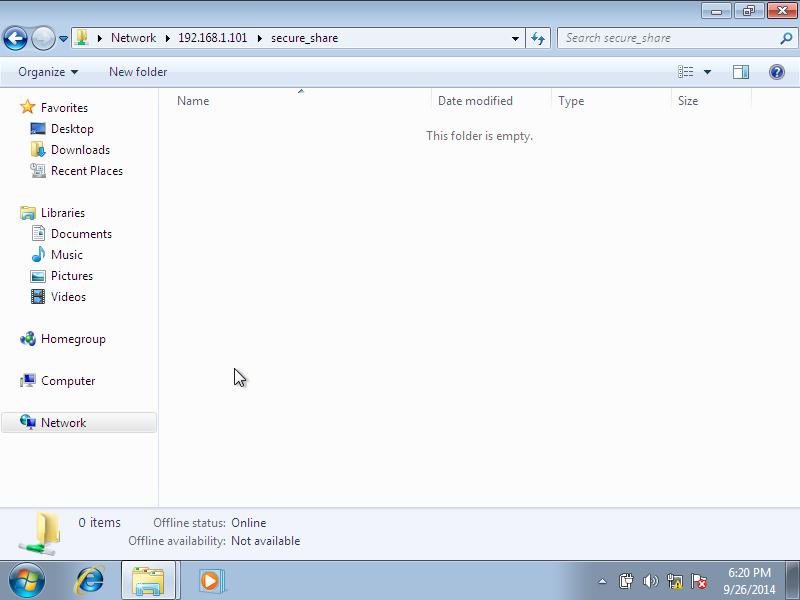 Windows 7, 1 nic, bridge, internet [Running] - Oracle VM VirtualBox_006