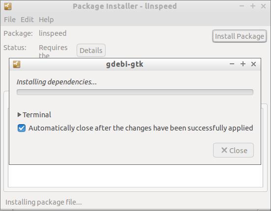 Package Installer - linspeed_001