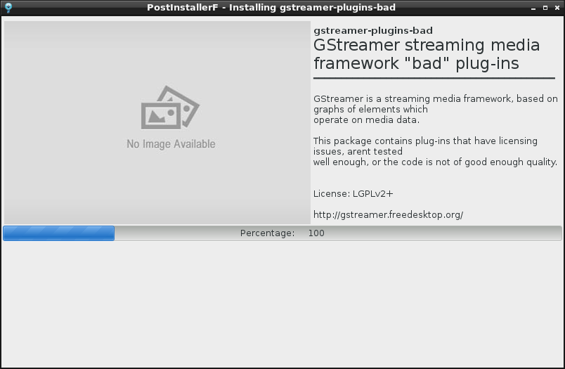 PostInstallerF - Installing gstreamer-plugins-bad_009