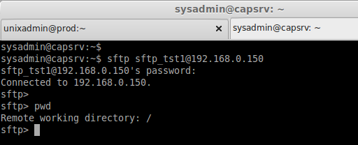 sftp from client