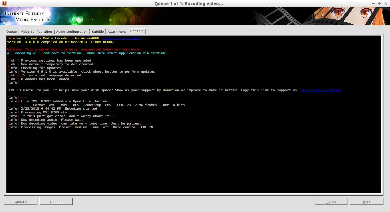 Queue 1 of 1: Encoding video..._003