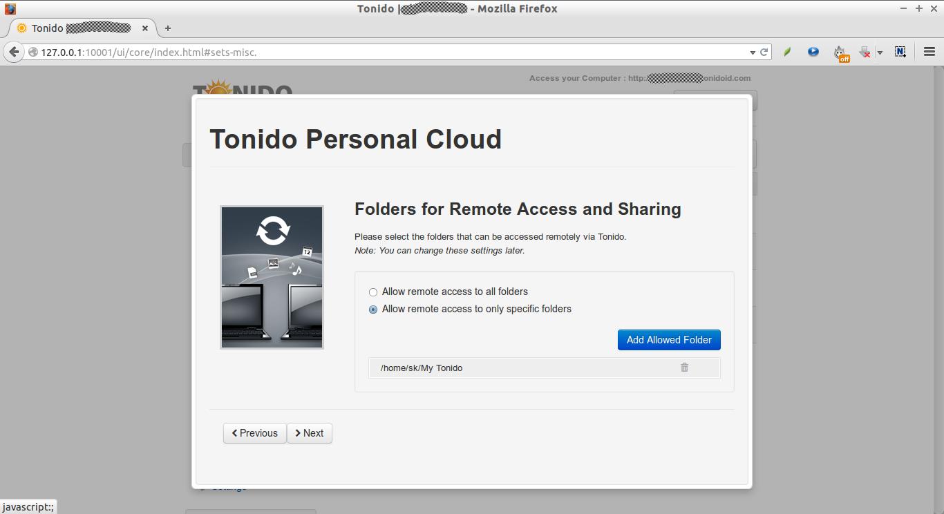 Tonido | skostechnix - Mozilla Firefox_005