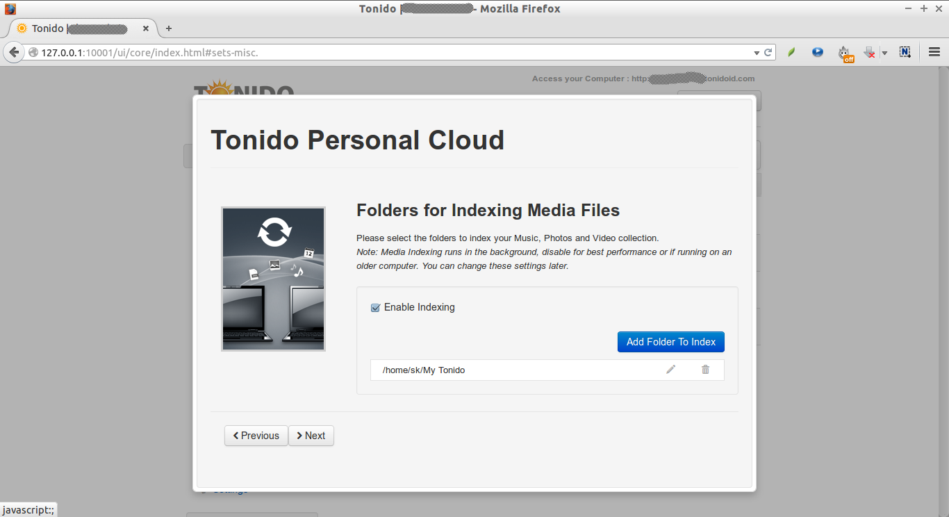 Tonido | skostechnix - Mozilla Firefox_008