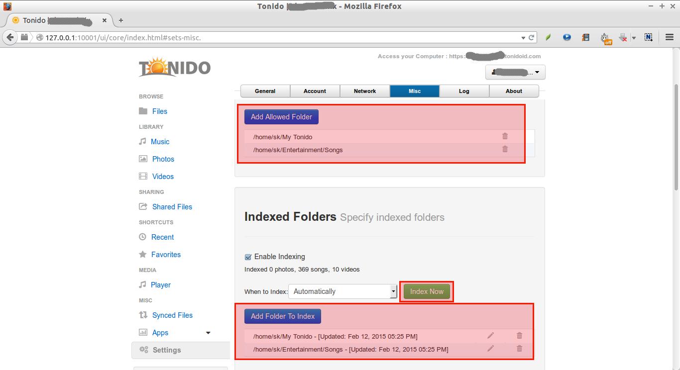 Tonido | skostechnix - Mozilla Firefox_017