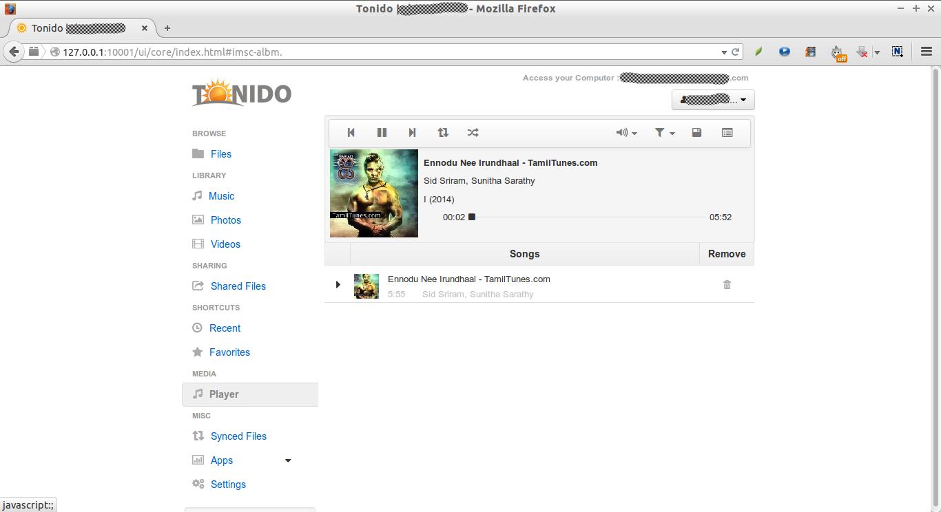 Tonido | skostechnix - Mozilla Firefox_018
