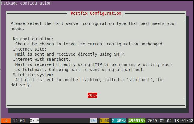 log installing package