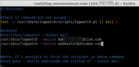 log mail settings