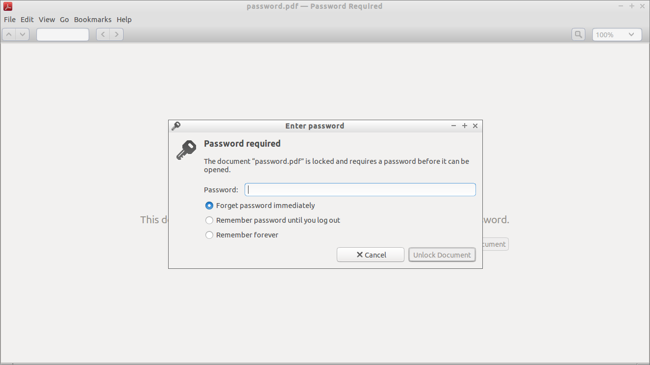 Remove The Password Of A Password Protected Pdf Files Unixmen