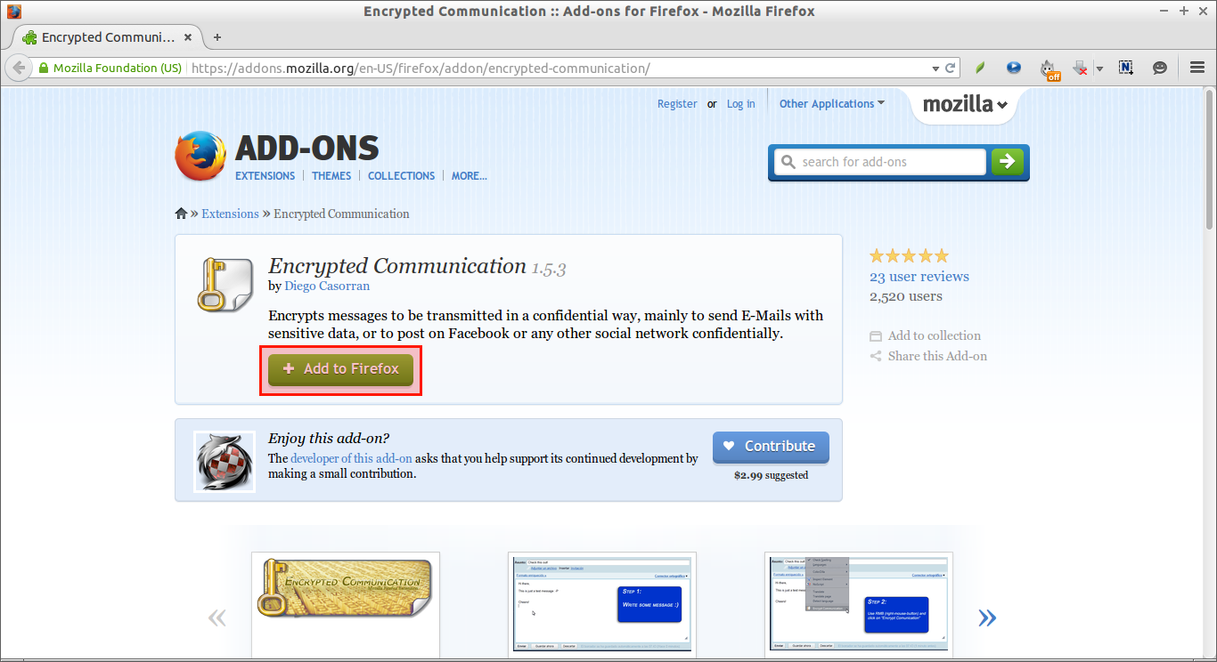 Encrypted Communication :: Add-ons for Firefox - Mozilla Firefox_001