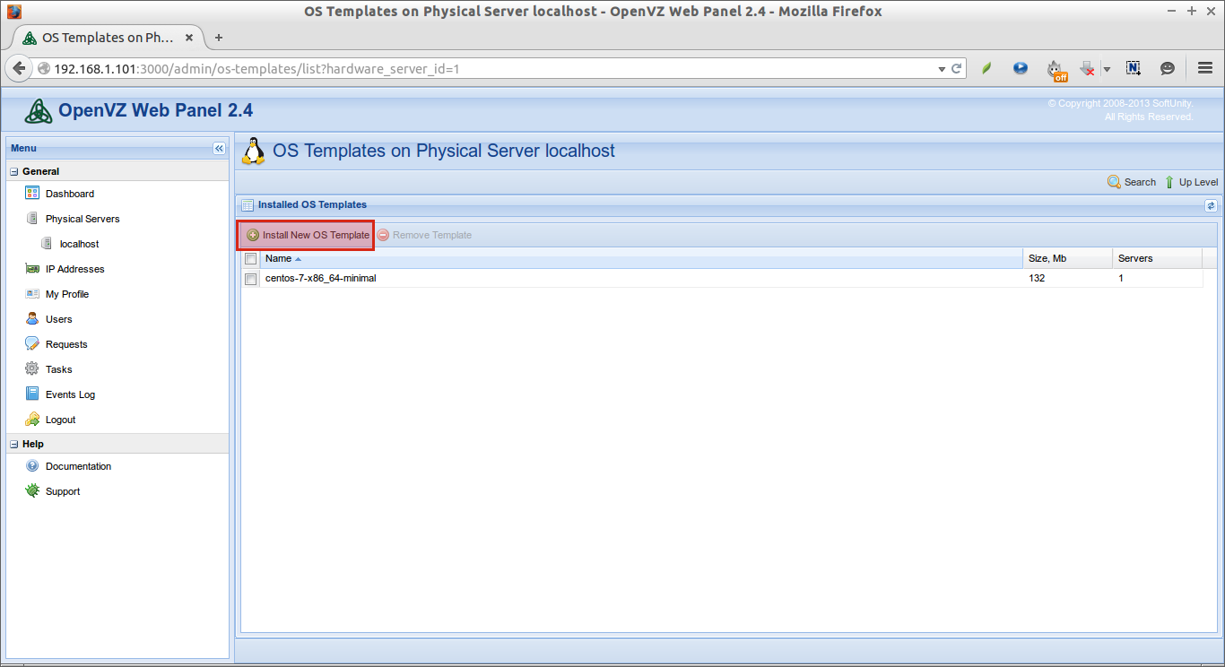 OS Templates on Physical Server localhost - OpenVZ Web Panel 2.4 - Mozilla Firefox_004