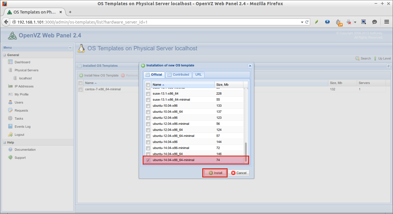 OS Templates on Physical Server localhost - OpenVZ Web Panel 2.4 - Mozilla Firefox_005