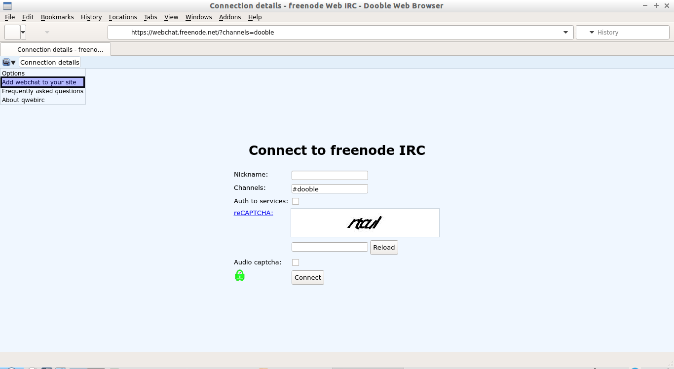 Connection details - freenode Web IRC - Dooble Web Browser_009