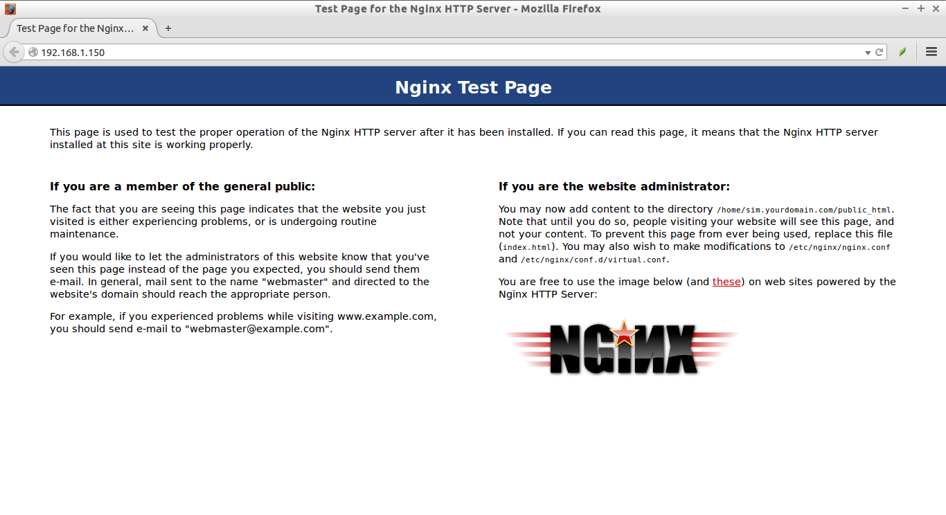 Test Page for the Nginx HTTP Server - Mozilla Firefox_010