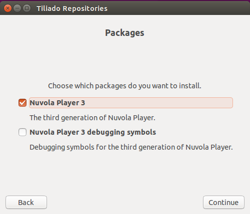 Choose the Nuvola Player 3