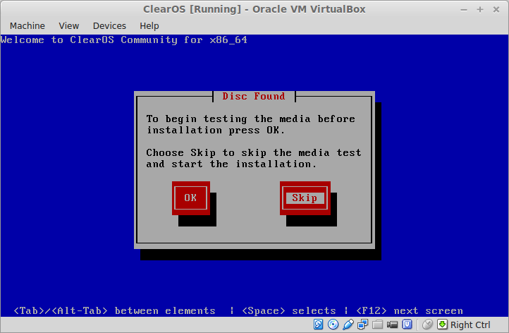 ClearOS [Running] - Oracle VM VirtualBox_002