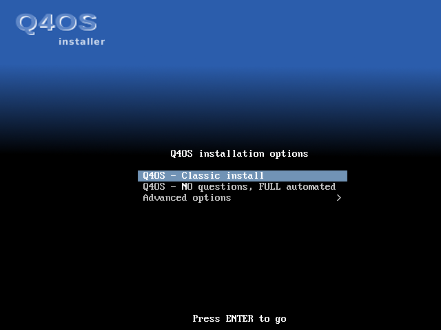 Getting started with the installation of Q4OS