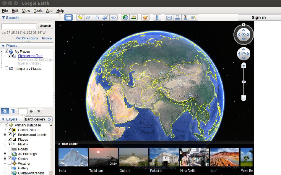 Google Earth Ubuntu