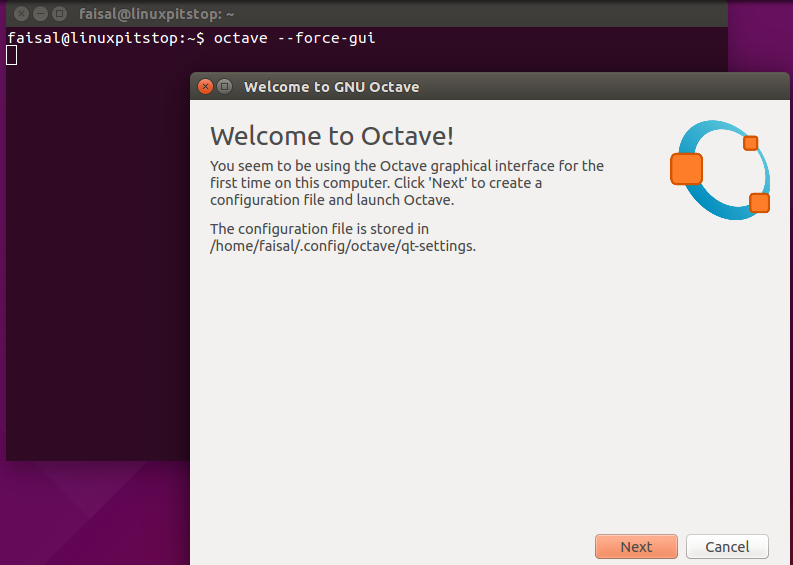 Graphical User Interface of Octave