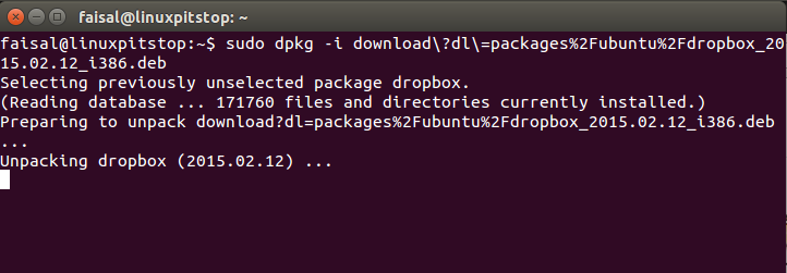 Install Dropbox on Ubuntu 15.04