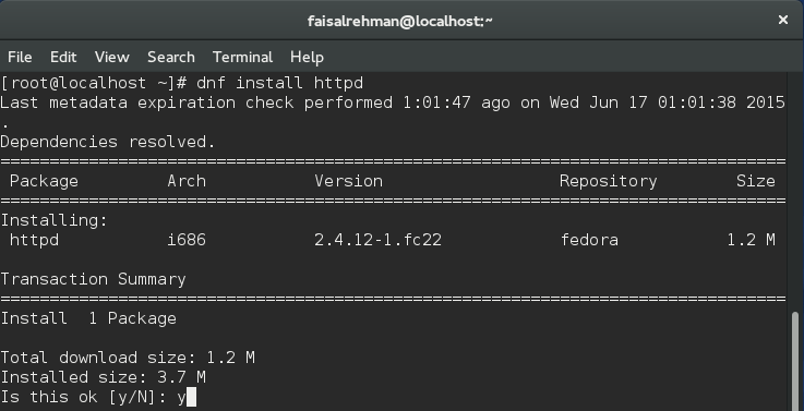 Installing the Apache Web server