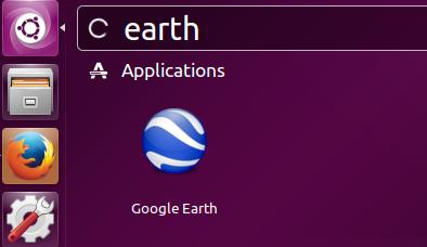 Launch Google earth