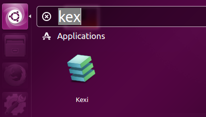 Launch Kexi