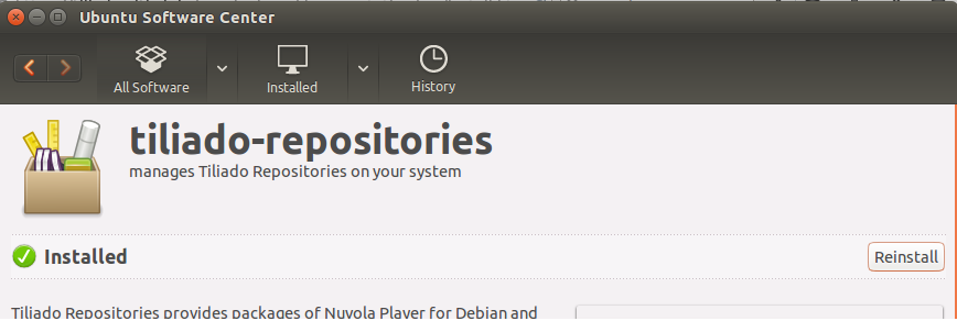 Tiliado Repository Installation is complete