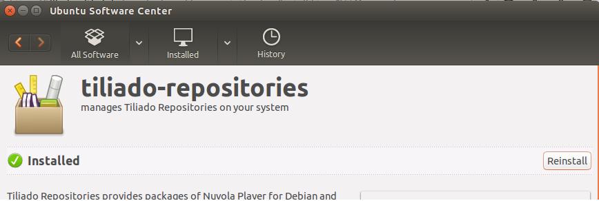 Tiliado Repository Installation is complete
