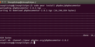 PhpDocumentor installation complete