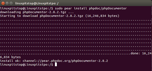 PhpDocumentor installation complete