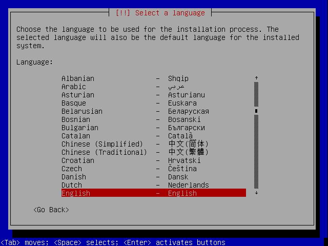 Select Language here