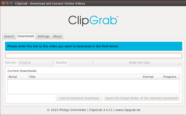 download video clipgrab