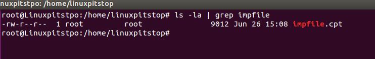 encrypted file saved