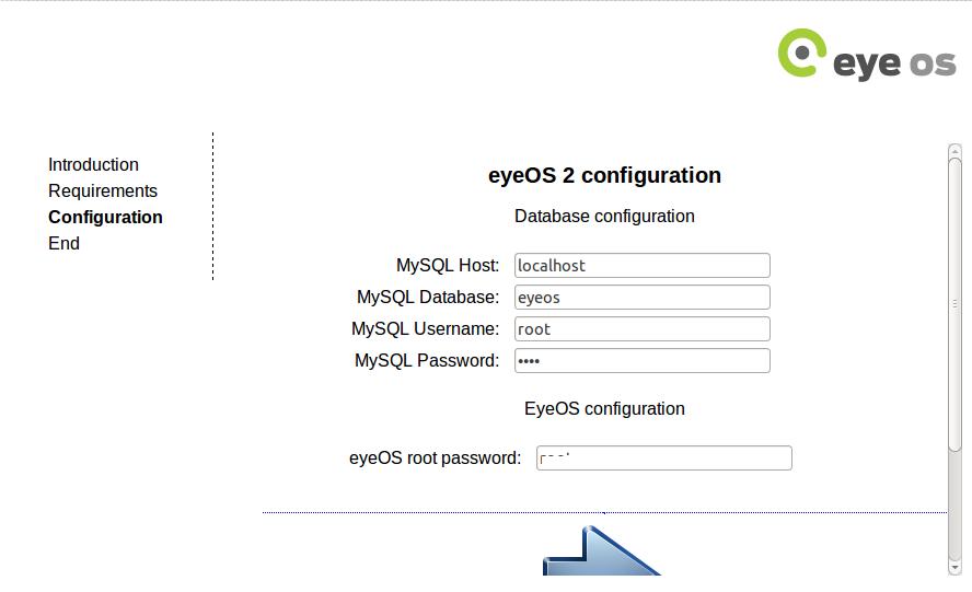 eyeos DB configuration