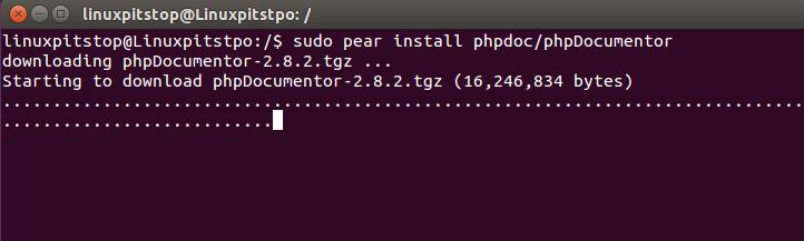 install phpdocumentor