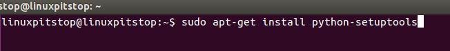 install python setuptool