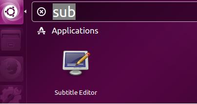 launch Subtitleeditor