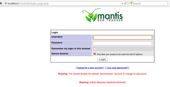 mantis login