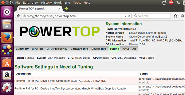 powertop in browser