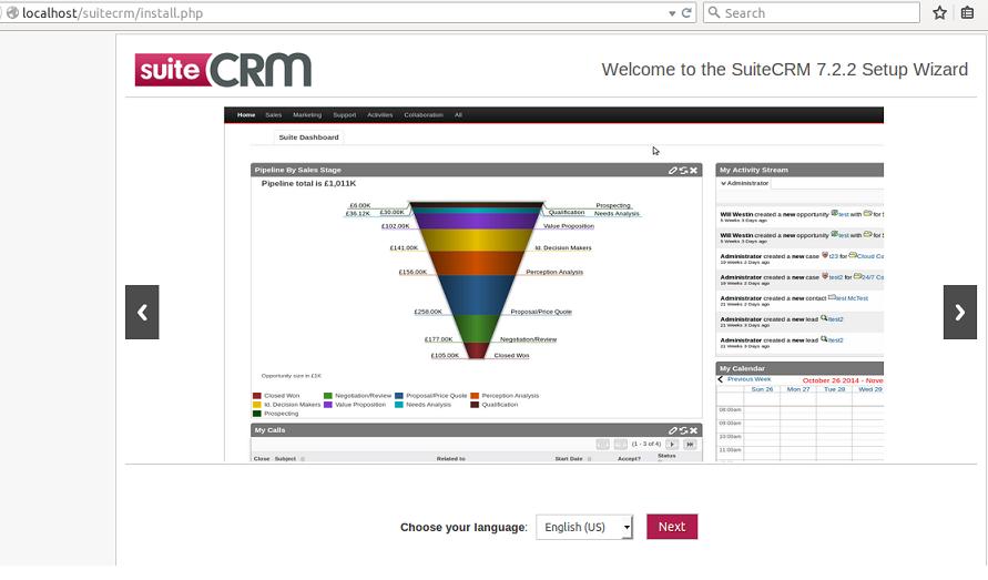 SuiteCRM installation
