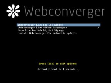 Webconverger kiosk