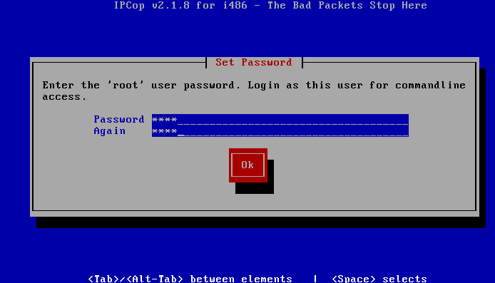 IPCop Root pass