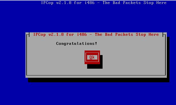 IPCop Install complete