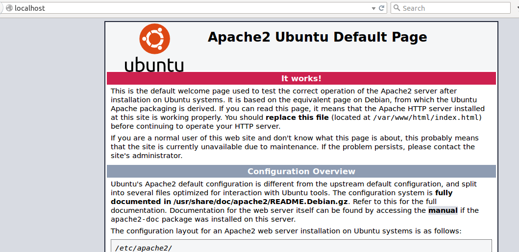 Apache page