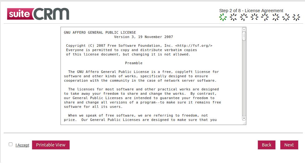 SuiteCRM License