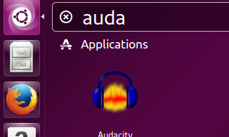 Launch Audacity