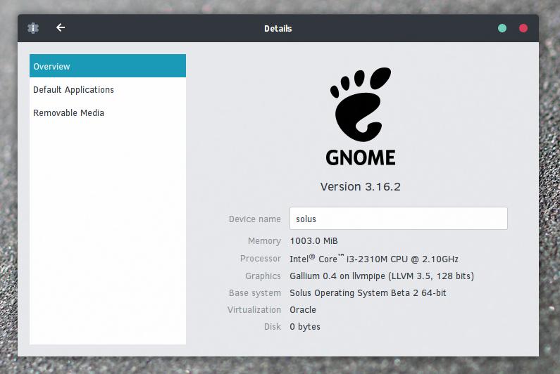 Solus GNOME