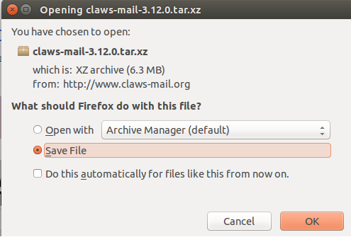 Download Claws mail