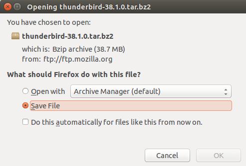 Download Thunderbir