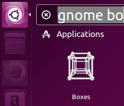 GNOME boxes launch